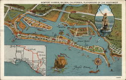 Map of Newport Harbor