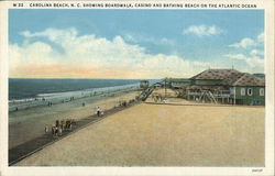 Boardwalk, Casino and Bathing Beach Postcard