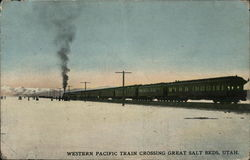 Western Pacific Train Crossing Great Salt Beds