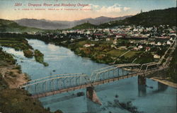 View of Umpqua River and Town