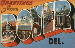 Greetings from Dover - Lettering Shows Local Pictures