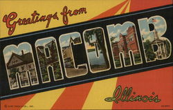 Greetings from Macomb Postcard