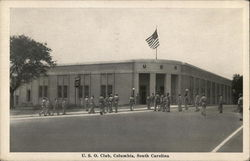 U. S. O. Club - Soldiers in Front