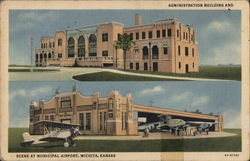 Administration Building and Scene at Municipal Airport