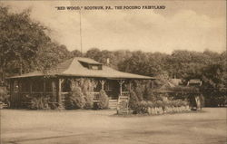 """Red Wood,"" The Pocono Fairyland Postcard"