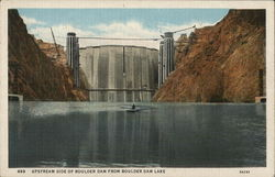Upstream Side of Boulder Dam from Boulder Dam Lake