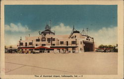 View of Municipal Airport Postcard
