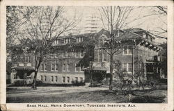 Tuskegee Institute - Sage Hall, Mens Dormitory