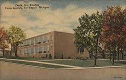 Ferris East Building, Ferris Institute Postcard