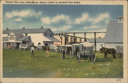 Cotton GIn near Little Rock, where cotton is pressed into bales.