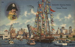 Gasparilla Entering Harbor at Tampa, Florida