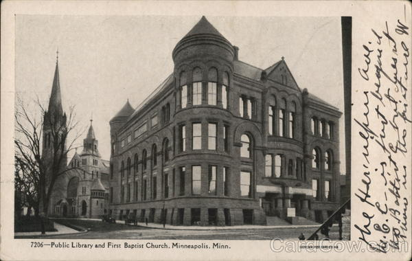 Public Library and First Baptist Church Minneapolis Minnesota