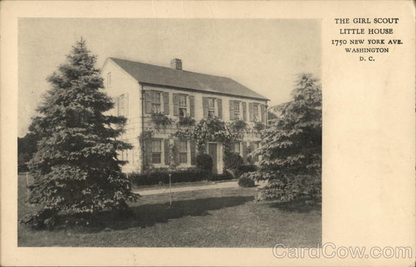 The girl scout little house 1750 new york ave washington dc postcard - The scouts tiny house ...