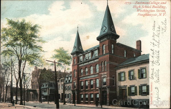 Eastman College and High School Building, Washington Street Poughkeepsie New York