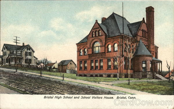 Bristol High School and School Visitors House Connecticut