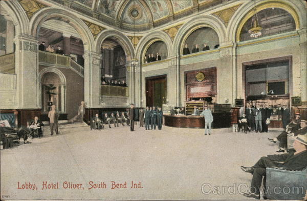 Lobby, Hotel Oliver South Bend Indiana