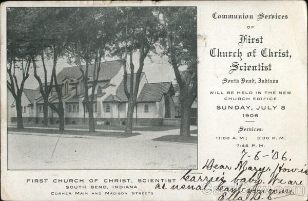 First Church of Christ, Scientist - Corner Main and Madison Streets South Bend Indiana