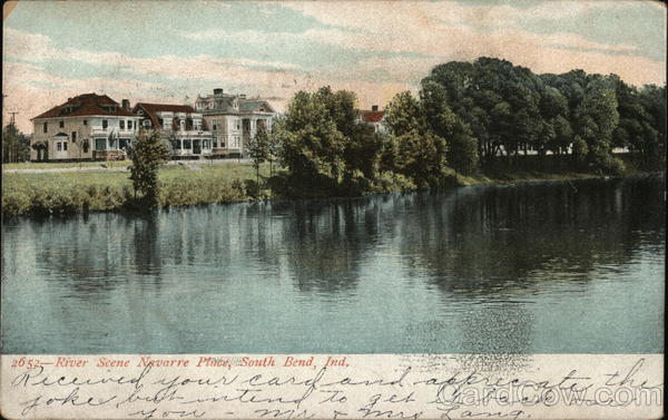 River Scene, Navarre Place South Bend Indiana