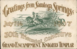 Greetings from Saratoga Springs, Knights Templar