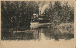 "Steamer ""Topinabee"" at the Devil's Elbow, Inland Route"