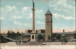 Confederate Monument & Mt. Royal Station