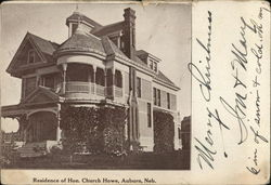 Residence of Hon. Church Howe