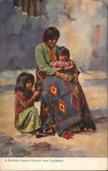 Navajo Indian Squaw and Children