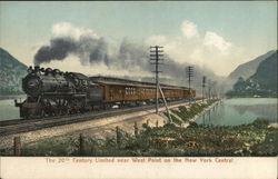 The 20th Century Limited near West Point on the New York Central