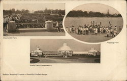 3 Pictures of Buffalo: Humboldt Park, Wading Pool, South Park Conservatory