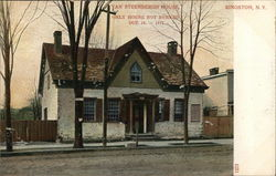 Van Steenbergh House, Only House not Burned Oct. 16 - 1777