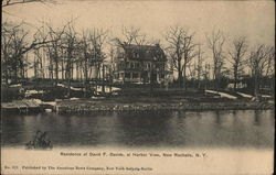 Residence of David F. Davids at Harbor View Postcard