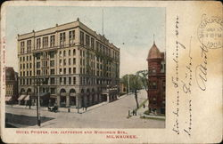 Hotel Pfister, Cor. Jefferson and Wisconsin Sts.