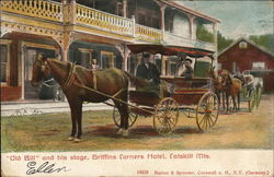 """Old Bill"" and his stage, Griffins Corners Hotel"