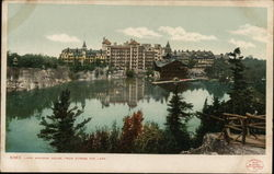 Lake Mohonk House from Across the Lake