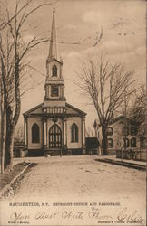 Methodist Church and Parsonage Postcard