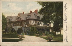 Residence of Mon. Levi P Morton