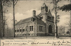 Library, Drew Theological Seminary Postcard