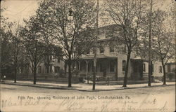 Fifth Ave., showing Residence of John Pugh