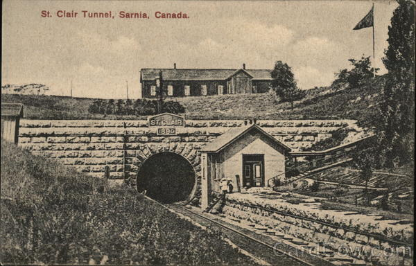 Sarnia (ON) Canada  City pictures : St. Clair Tunnel Sarnia, ON Canada Postcard