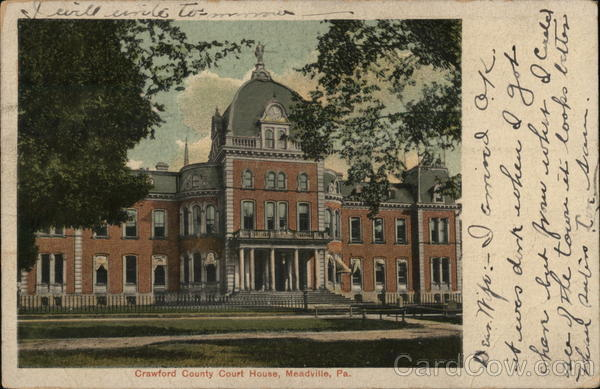 Crawford County Court House Meadville Pennsylvania
