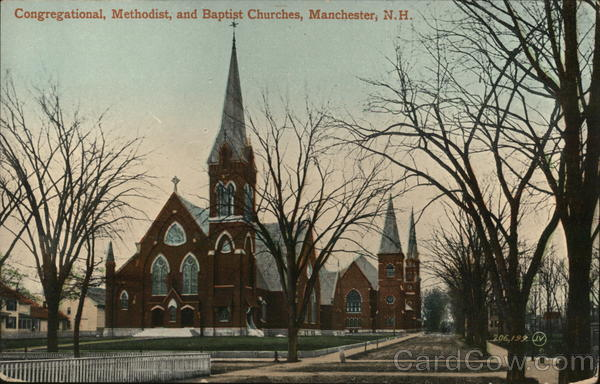 Congregational, Methodist, and Baptist Churches Manchester New Hampshire
