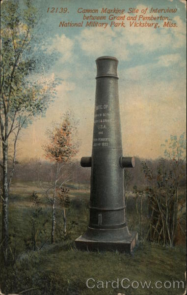 National Military Park - Canon at Site of Interview between Grant and Paemberton Vicksburg Mississippi