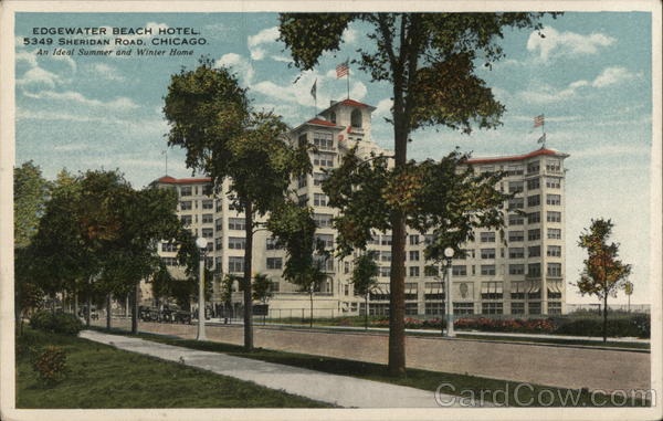 Edgewater beach motel chicago il postcard for Motels in chicago