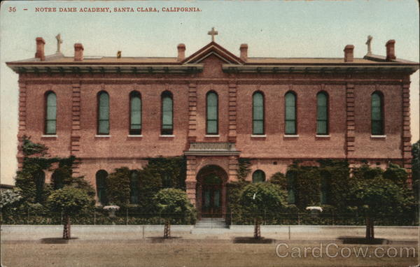 Notre dame academy santa clara ca postcard for Academy salon santa clara