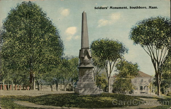 Soldiers Monument Southboro Massachusetts