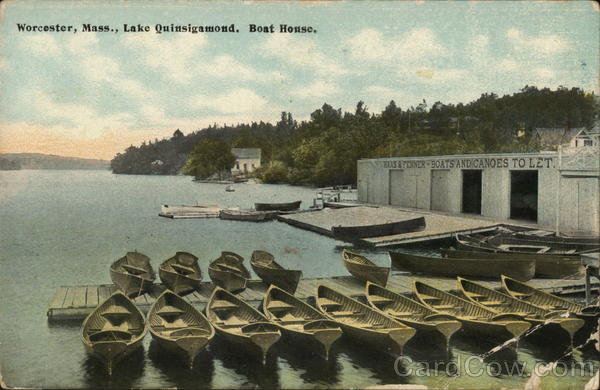 Boat House, Lake Quinsigamond Worcester Massachusetts