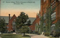 Downer College, Walk at Entrance to Merrill Hall