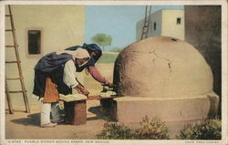 Pueblo Women Baking Bread
