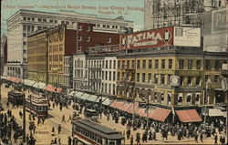 Four Corners- Market and Broad Streets from Kinney Building