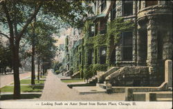 Looking South on Astor Street from Burton Place